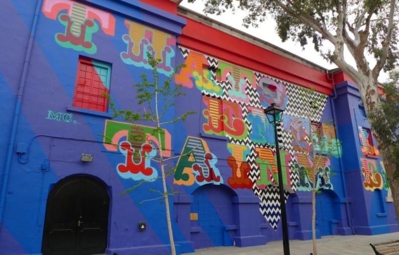 Blue Gibraltar Street Art