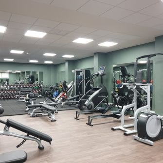 Gym at The Eliott hotel