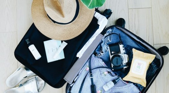A guest packing for a stay at the Eliott Hotel