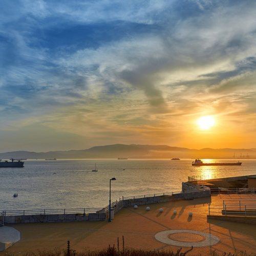 Sunset At Gibraltar Harbour