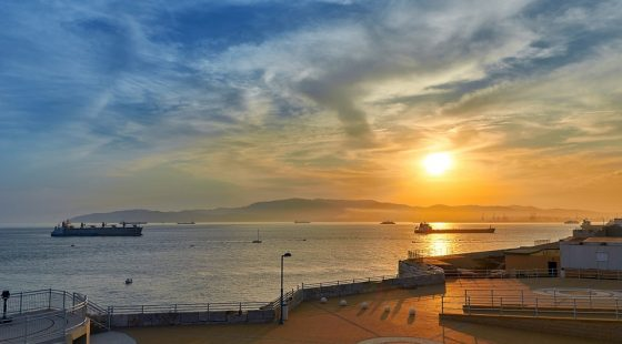 Sunset At Gibraltar Harbour