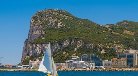 A boat sailing in Gibraltar Bay